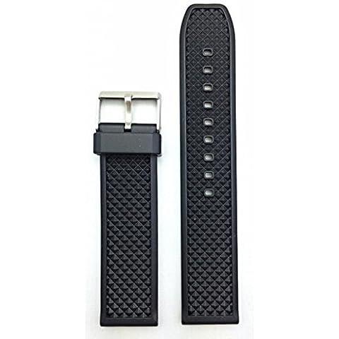 22mm negro reloj banda
