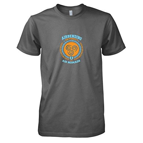 (Texlab - Airbending University - Herren T-Shirt, Größe M, grau)