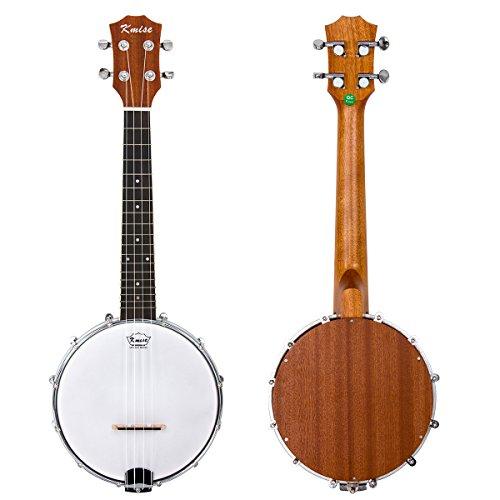Kmise Banjo Ukulele 4 Saiten Konzert Banjos Klassischer Stil Professionell Musikinstrument