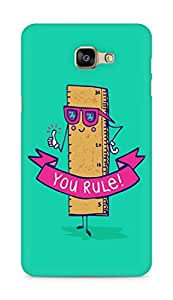 Amez designer printed 3d premium high quality back case cover for Samsung Galaxy A9 (Creative Funny illustrations you rule)