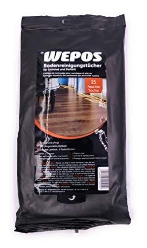 WEPOS Bodenreinigungstücher für Laminat und Parkett (3 x 15 Stück) (4)