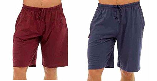 Tom Franks Pyjamahose 2 Stück Lounge Hose), Jersey-Baumwolle Rot Marineblau