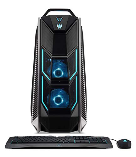 Predator Orion 9000 (PO9-900) Gaming Desktop PC (Intel Core i9-9900X, 16 GB RAM, 512 GB PCIe SSD + 1.000 GB HDD, NVIDIA GeForce RTX 2080 (8 GB GDDR6 VRAM), Win 10 Home) schwarz