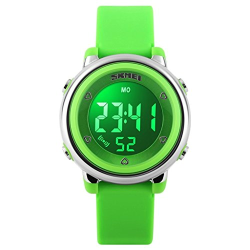 lionm-multifunction-digital-led-watches-water-resistant-children-girls-boys-outlook-sports-watch-gre