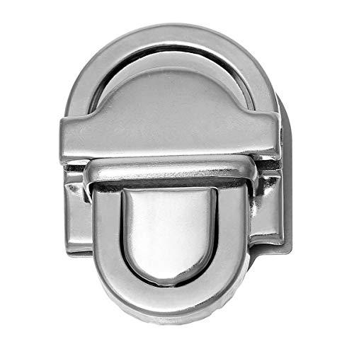 Nähendes Gärtnerlein Steckschloss Mappenschloss 25 mm breit, Silber Farben, 1 Set (4teilig) - Push-lock-tasche