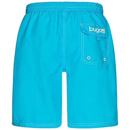 bugatti® - moderne Herren Badeshorts in mintgrün, orange, marineblau, rot, hellblau oder schwarz Hellblau