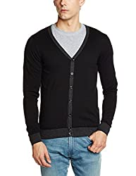 Gas Mens Cotton Sweater (8059890676200_75814200_Large_Black)