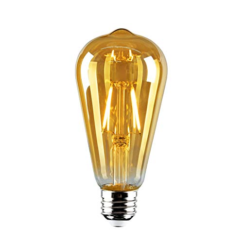 generalman 4x Vintage Bombilla Retro pasado de moda estilo de Edison E27Tornillo LED ST642W 230V-jaula de ardilla Filamento de Tungsteno lámpara de envejecido de cristal