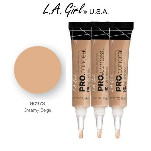L.A. Girl Pro Conceal HD 973 Creamy Beige (6 Pack) by L.A. Girl