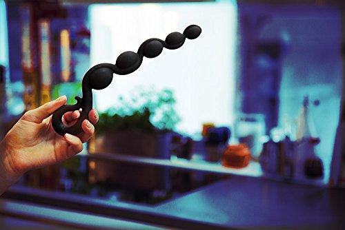 Fun Factory BENDYBEADS schwarz Analkette für Anfänger aus Silikon (inklusive Tasche + Gleitgel) - 2