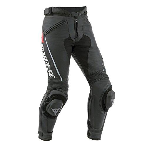 Dainese-DELTA PRO C2 LADY Pantaloni da moto in pelle, Nero/Nero, Taglia 40