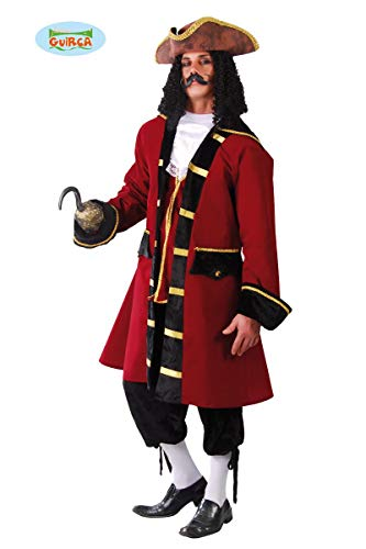 FIESTAS GUIRCA Disfraz de Capitán Capitán Pirata Disfraz de Cuerpo Entero