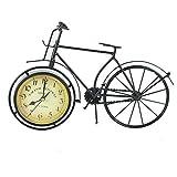 MOMIN-Home Reloj Clásico Bicicleta Retro Diseño de Reloj Sala de Estar Decorativo Silencioso Números sin tictac Funciona con batería Reloj de sobremesa (Color : Negro, tamaño : 35x4x26cm)