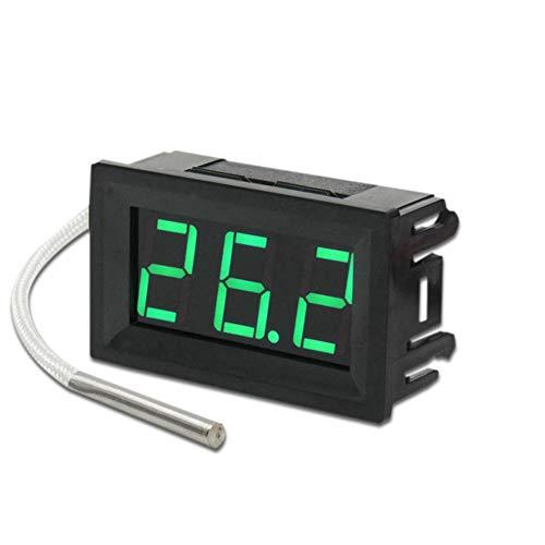 KingbeefLIU Thermometer, Industrie Klasse Digital LED Thermometer, Thermoelement Panel Meter, Chemisch Beständig für Langlebigkeit und Einfache Reinigung Grünes Licht# -