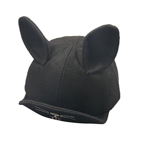 JIANGFU Kinder Hasenohren Mütze Baseballmütze,Baby Jungen Mädchen Winter Warme Kaninchen Ohren Baumwolle Hut Kinder Drucken Hüte (BK)