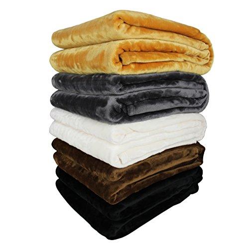 Auralum® Hochwertige Kuscheldecke 100% Polyester Warm Weich und Bequem L