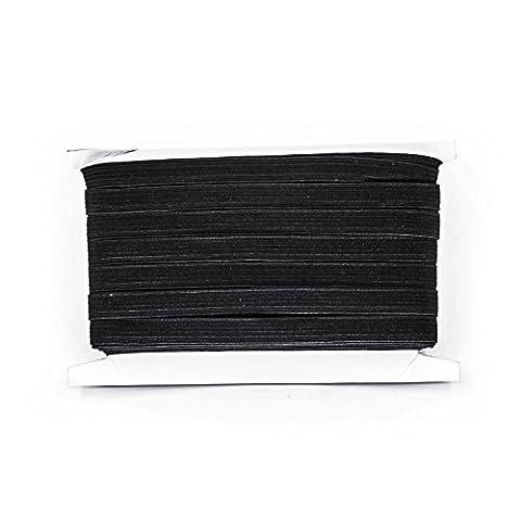 M X schwarz & weiß–7mm breit flach gewebt Elastic Band