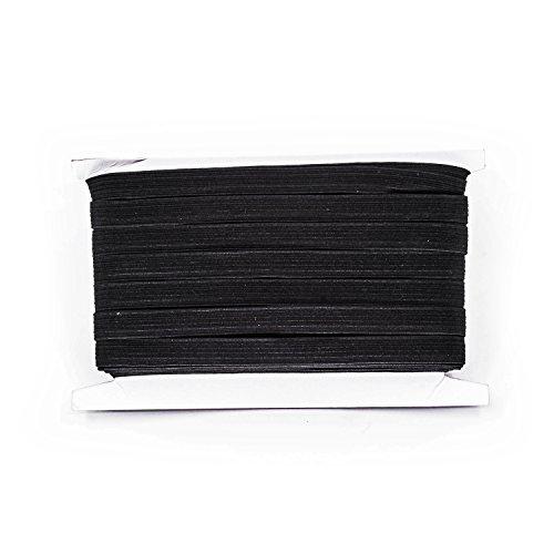 Schwarz & Weiß–5mm breit flach gewebt Elastic Band für Nähen, stricken, Gurtbänder und Arts & Craft von trimmen Shop, Textil, schwarz, 5 m (Radfahren Schuhe Kein Clip)