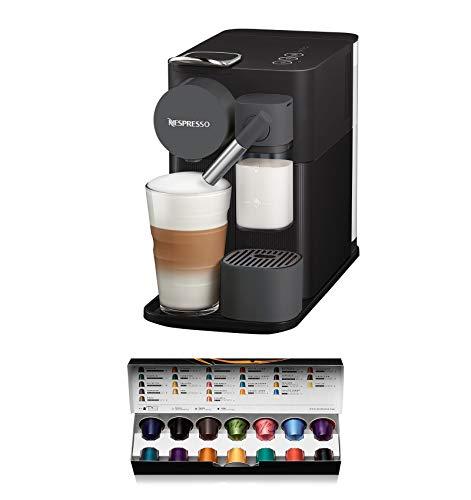 De'Longhi EN 500.B Black Nespresso Kaffeekapselmaschine Lattissima One, Kunststoff, 1 Liter, schwarz