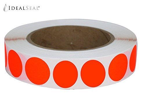Farbe Codierung Etiketten Super Hell Neon Orange Rund Kreis Punkten für die Organisation Inventar 2,5cm 500Total Selbstklebende Aufkleber (Neon Orange) 1500 Per Roll Neon Tangerine Orange -