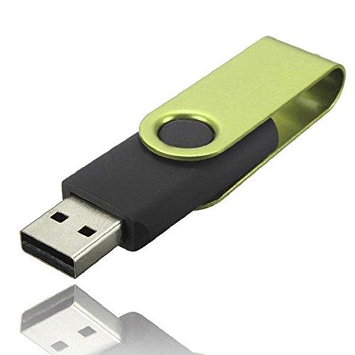2 Gb Halskette (USB 2.0Flash Drive 32GB/16GB/8GB/4GB/2GB/1GB, Transer® Drehgelenk USB 2.0Metall Speicherstick Speicher Daumen U Disk Datenspeicher Drive drehbar USB-Sticks grün 2 GB)