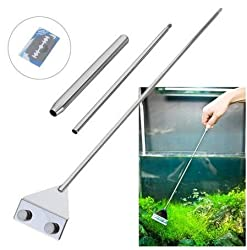 Light Green, XL : Stainless Steel Aquarium Fish Tank Algae Razor Scraper Blade Aquatic Water Live Plant Grass Cleaning Multi-Tool Cleaner Kit Set