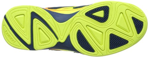 Hummel CELESTIAL COURT X5 60-057-5997 - Scarpe sportive Uomo Multicolore (Mehrfarbig (Safety Yellow/Firey Coral 5997))