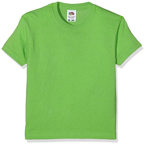 Fruit of the Loom Jungen T-Shirt Ss132b, Grün (Lime), 3-4 Jahre (Jungen Kinder Grün)