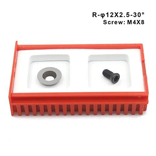 Oscarbide Ci3 Kreis-Ersatzschneider, 12 mm Durchmesser, 12 mm x 2,5-30 Schneidwinkel, für Holzdrehmaschinen, Werkzeuge mit Schraube M4X8
