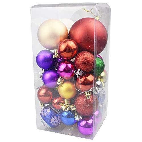 ln, Weihnachtsbaumkugeln Set Weihnachtsdekoration Weihnachten Ornamente, Farben Gemischt, 36 Stück ()