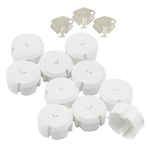 com-four® Fusible 10x avec clé en métal - Protection optimale pour Les bébés et Les Tout-Petits (10 pièces)