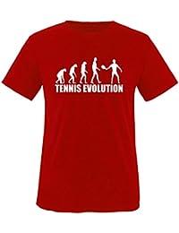 TENNIS EVOLUTION - Kinder T-Shirt Gr. 86-92 bis 152-164 Versch.Farben
