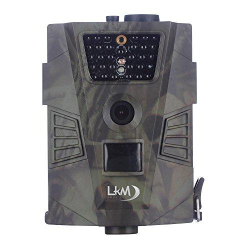 Telecamera infrarossi fototrappola con pir lkm security con risoluzione a 12 megapixel rilevazione del movimento visione notturna supporto microsd