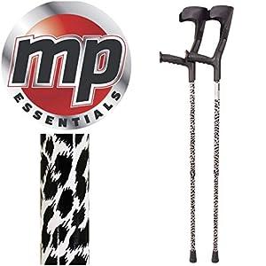 MP Essentials Compact verstellbar Funky Muster Unterarm Medical Krücken, 1Paar