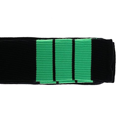 1980er Die Kostüme Jahre (Choobes (Unisex) 35 Zoll Oberschenkel High Black Tube Socken mit Neon Green)