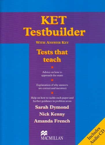 KET Testbuilder with Key and Audio CD: Student's Book with Key by Sarah Dymond (21-Jun-2005) Paperback