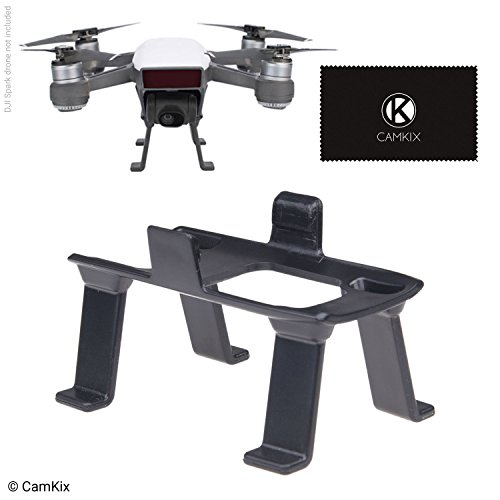 CamKix® Fahrwerk Kompatibel mit DJI Spark - Zusätzliche Höhe und Sicherheit - Lässt Ihrer DJI Drohne Bodenfreiheit - Maximale Stabilität - Erhöhter Abstand zwischen Kamera/Gimbal und Boden