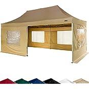 STILISTA 30030061, STILISTA Falt-Pavillon 3x6m inkl. Seitenteile, WASSERDICHT, versiegelte Nähte, EV1 Voll-Aluminium, Tragetasche