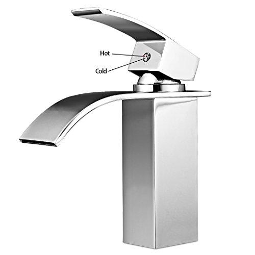 Ancheer Design Einhebel Wasserhahn Waschtischarmatur Wasserfall - 4