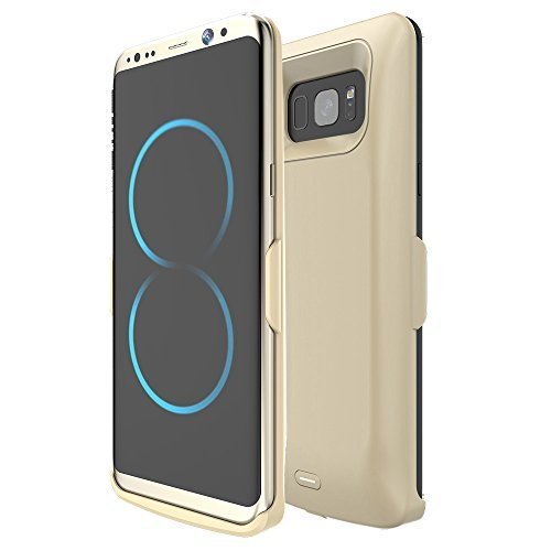 5500mAh External Power Bank Battery Pack Charger Case For Samsung Galaxy S8 Plus (Golden)
