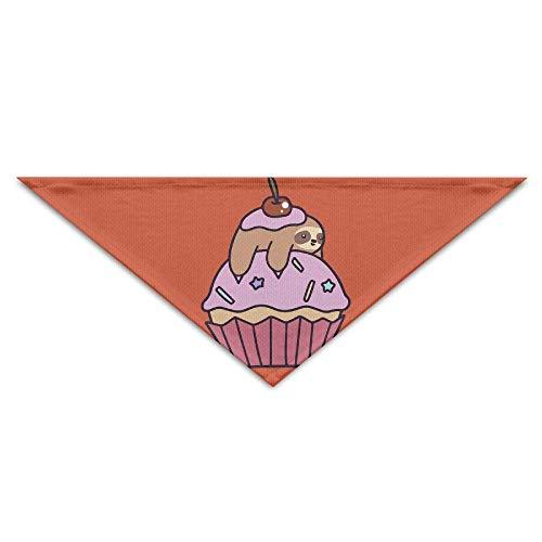 Kostüm Cupcake Valentine - Hectwya Cute Cupcake Sloth Mehrfarbige Haustierbandanas für Ihren Hund oder Ihre Katze klein bis mittelgroß