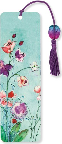 Fuchsia Blooms Beaded Bookmark
