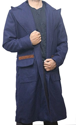 The Jasperz Fantastic Beasts and Where to Find Them Newt Scamander Cosplay Wool Trench Coat, XXS-3XL