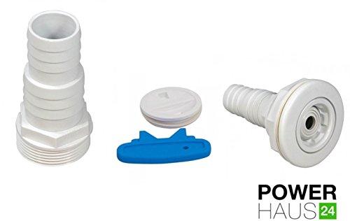 POWERHAUS24 - Premium Skimmer Komplett Set mit Einströmdüse, Saugplatte, Rahmenblenden, Lippendichtung, Schlauchtülle und allen Dichtungen - 4