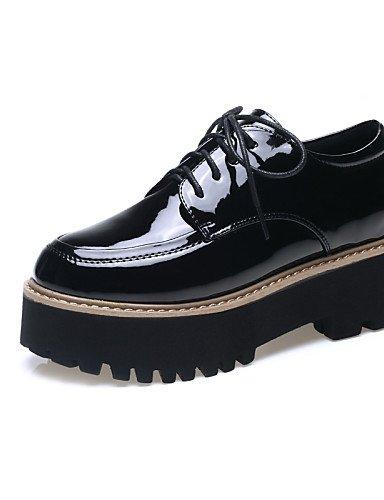 ZQ hug Scarpe Donna-Sneakers alla moda-Tempo libero / Formale / Casual-Creepers-Piatto-Vernice-Nero / Argento / Borgogna , silver-us8 / eu39 / uk6 / cn39 , silver-us8 / eu39 / uk6 / cn39 burgundy-us8 / eu39 / uk6 / cn39