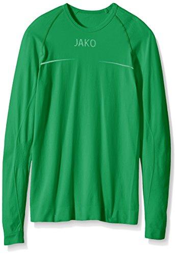 JAKO Longsleeve Comfort - Herren Langarmshirt,grün (sportgrün), S