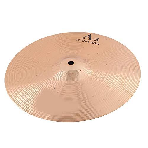 Alomejor Brass Drum Cymbal,12 Zoll Ride Hi-Hat-Becken Crash Becken Splash Musikinstrument für Drum Set