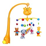 Baby Musical Crib Mobiles Toys - Music Bed Bell Cot Toys with Timing Hanging Rotating Animals Soothers Learning Educational Sound Toy for Infant Toddler