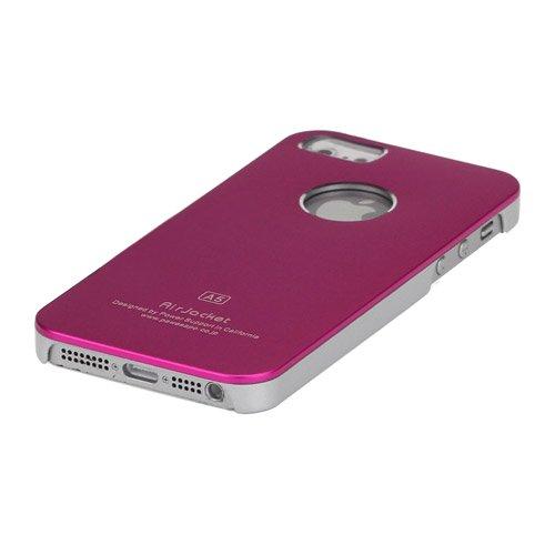 Minto Air Jacket Alucase für iPhone SE 5 5S Aluminium Metall Case Cover Schutzhülle Silber Pink