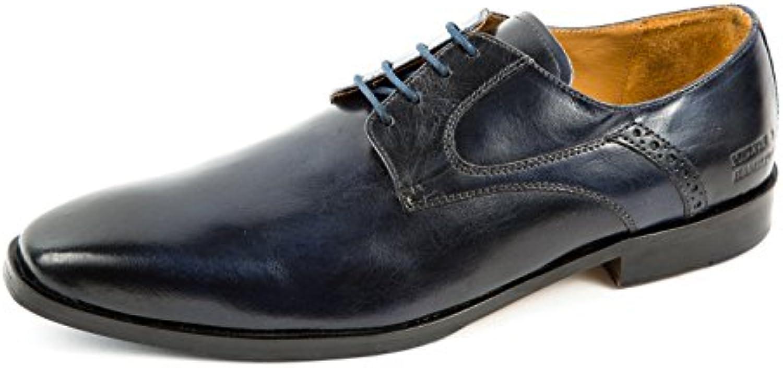 Melvin & Hamilton MH15-724 - Zapatos de Cordones de Piel Lisa para Hombre Azul Azul 41 EU -